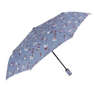 Niebieski parasol Perletti w kwiaty