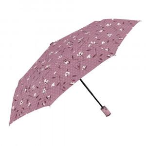 Wrzosowy parasol Perletti w kwiaty