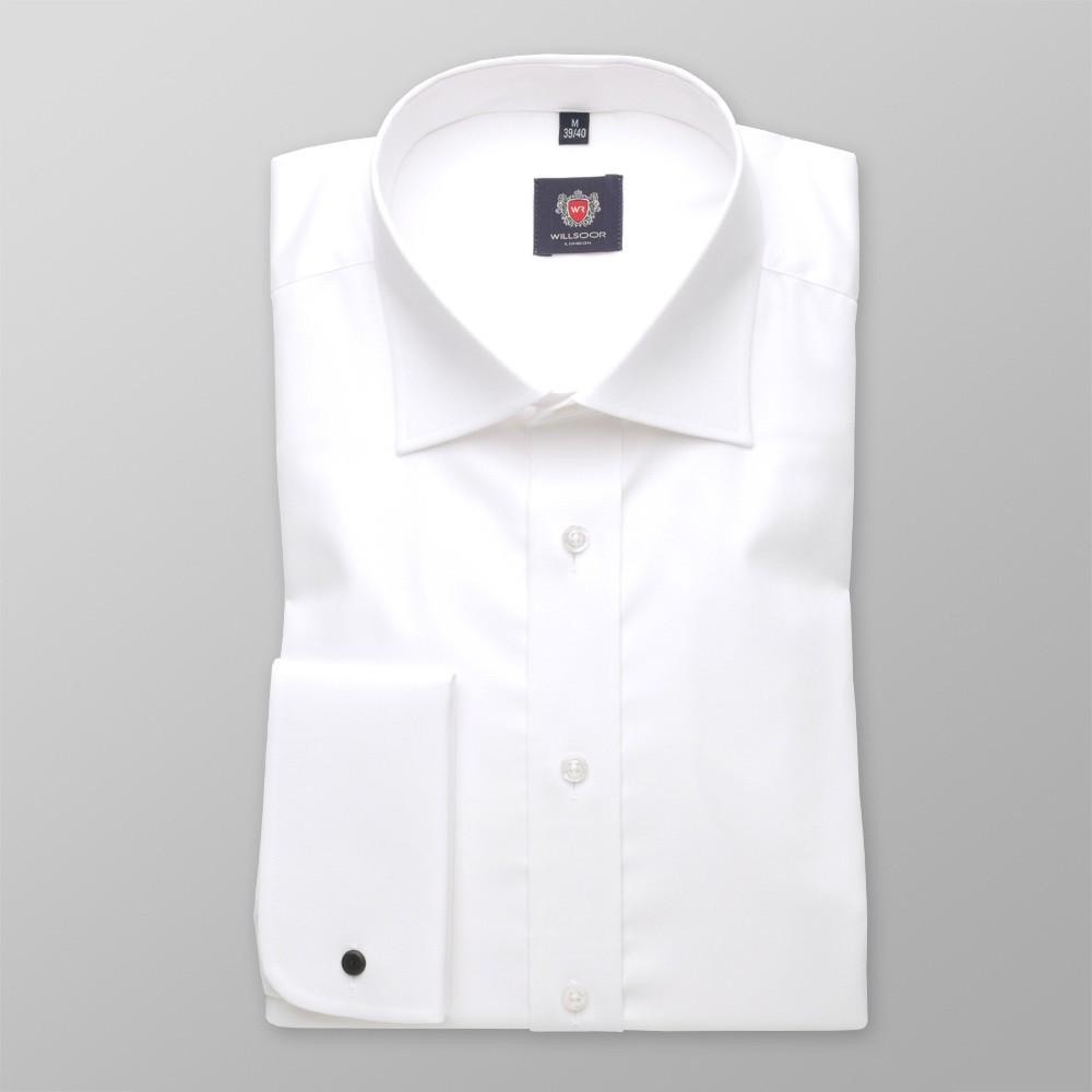 Biała klasyczna koszula na spinki