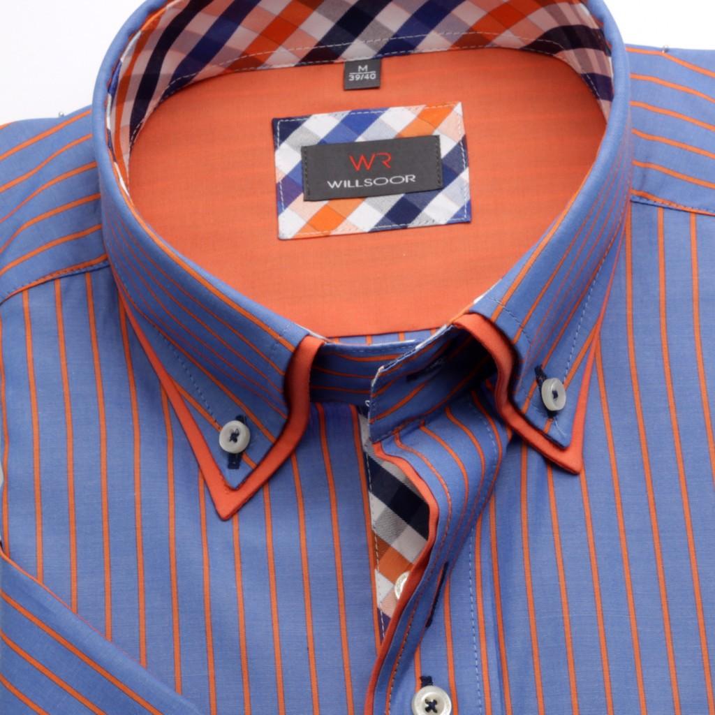 Niebieska klasyczna koszula w paski