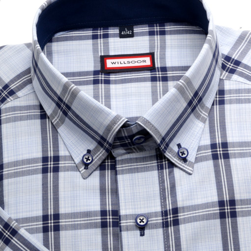 Klasyczna błękitna koszula w kratę