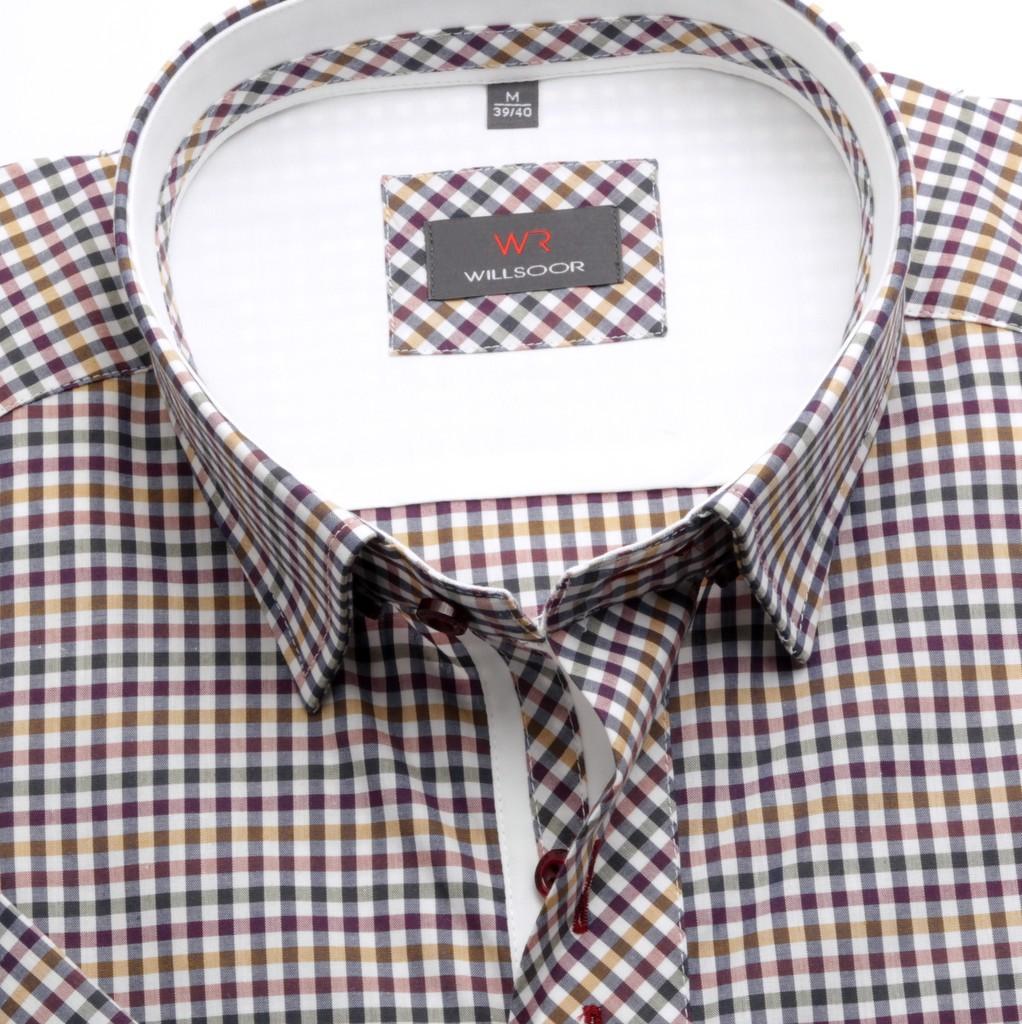 Taliowana koszula w kolorową kratkę