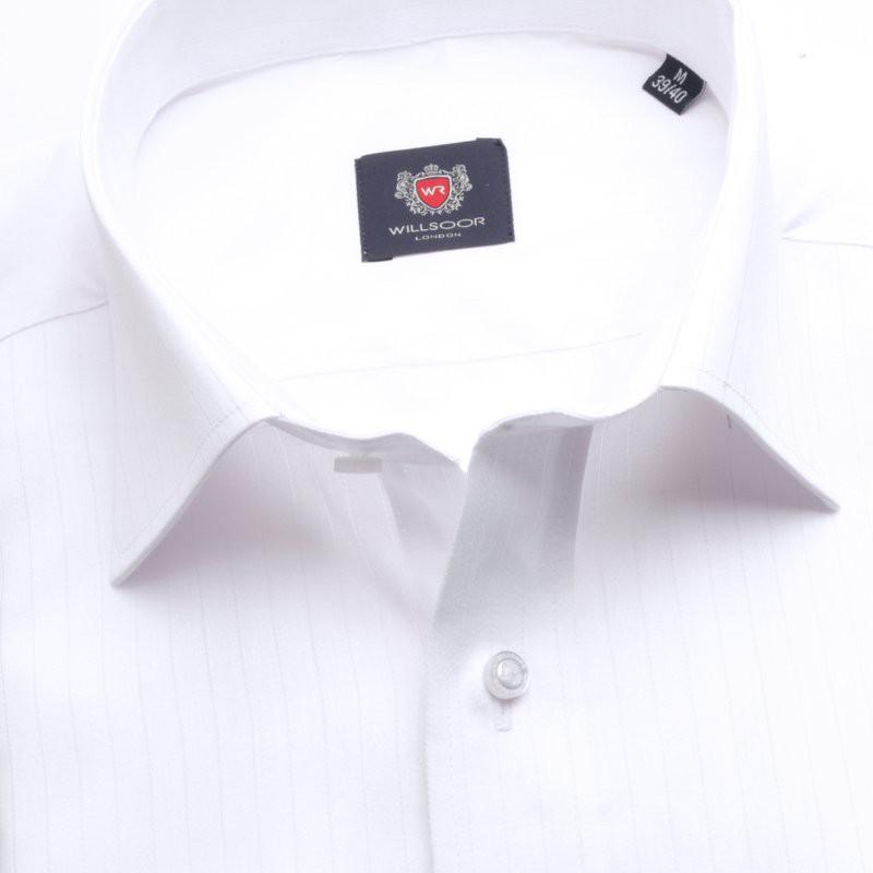 Biała klasyczna koszula na spinki  LA2Z5