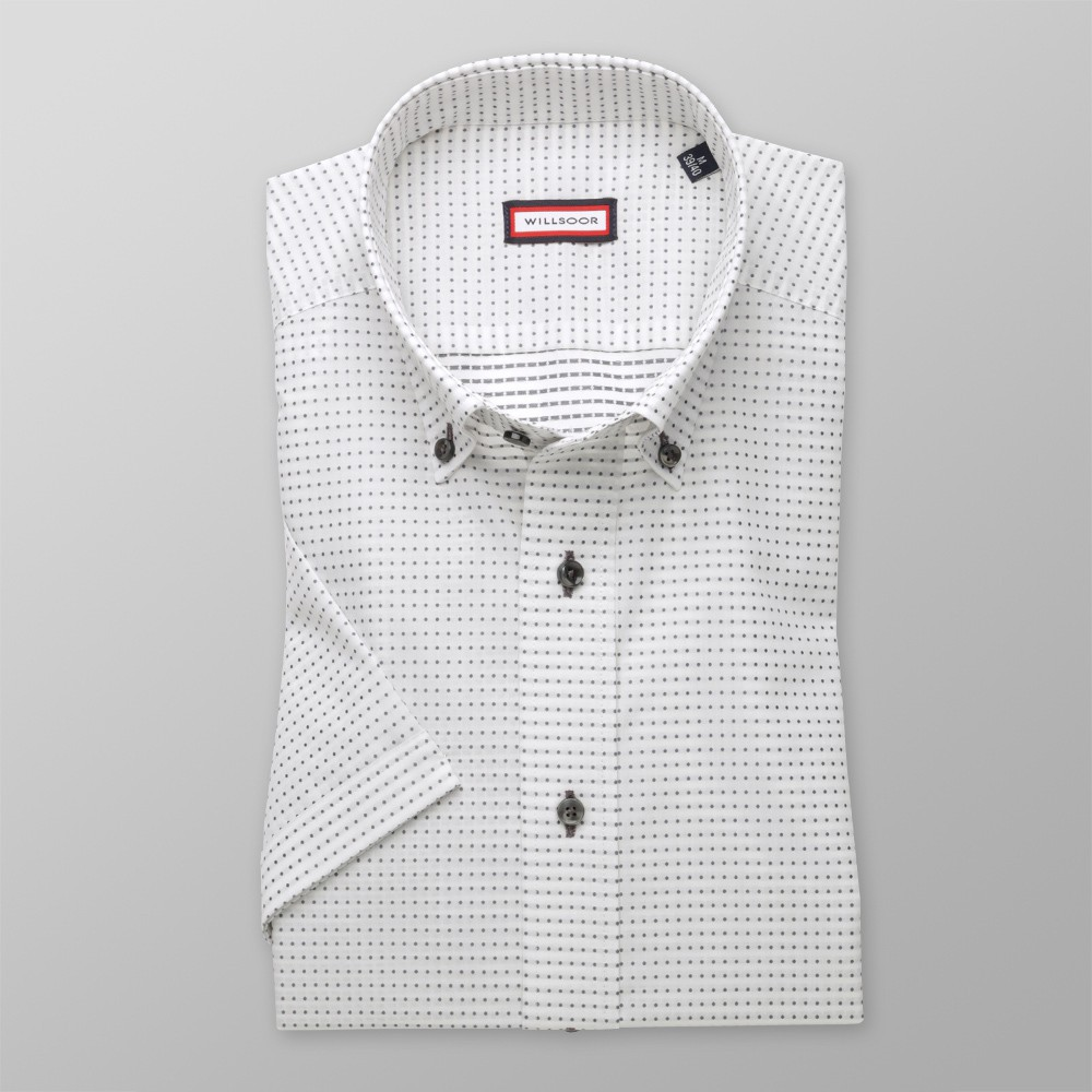 Koszula w kropki taliowana