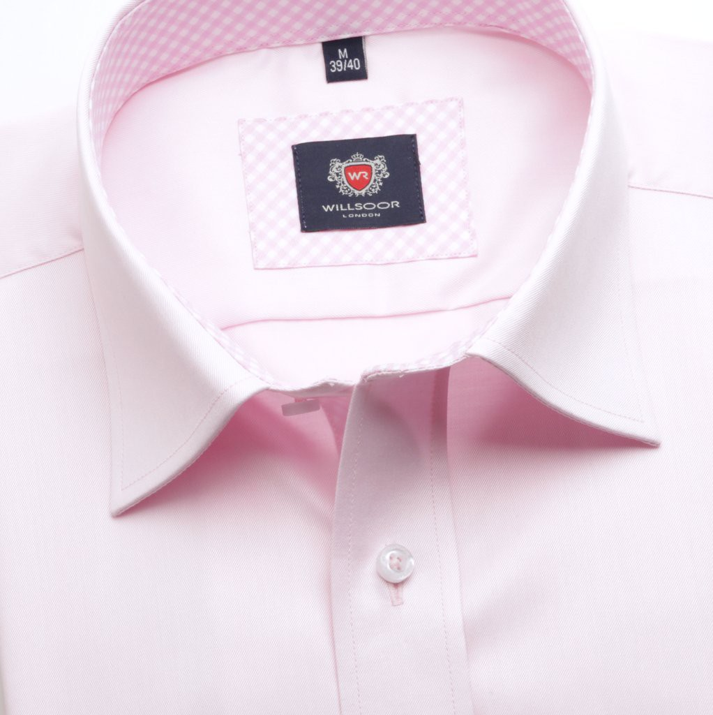 Różowa taliowana koszula