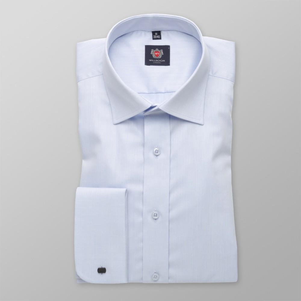 Klasyczna błękitna koszula na spinki