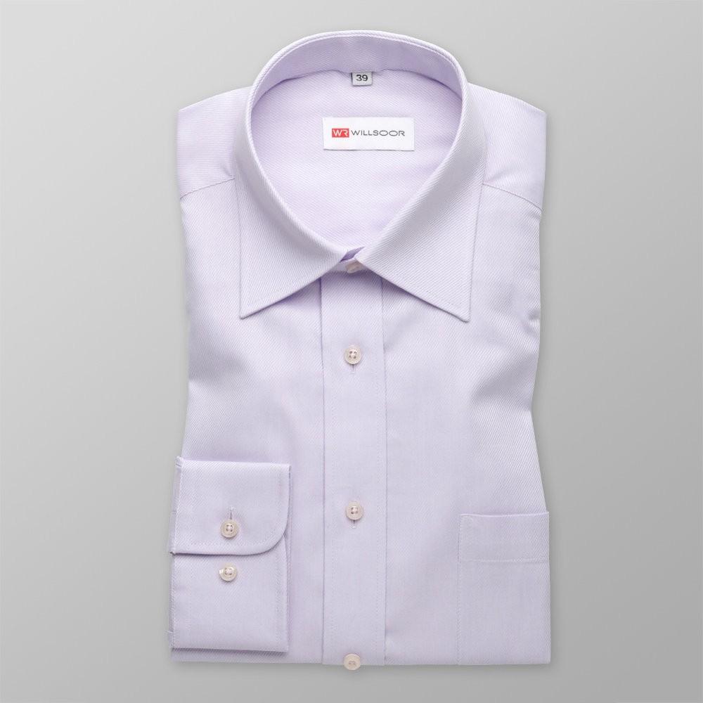 Klasyczna jasnofioletowa koszula