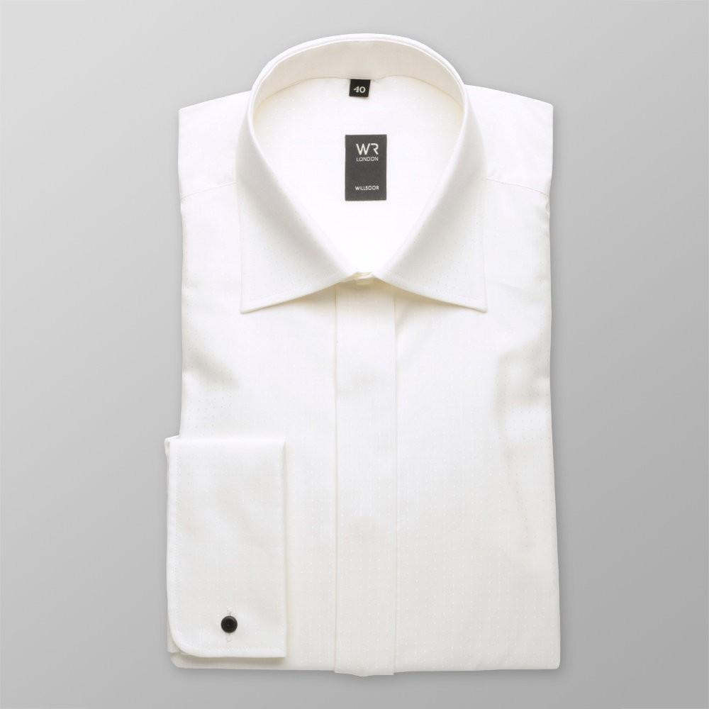 Klasyczna koszula ecru na spinki