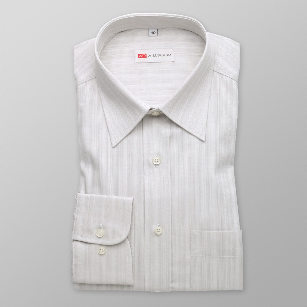 Klasyczna szara koszula w prążek