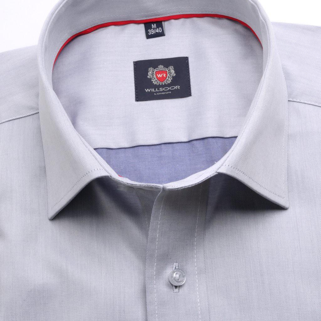 Jasnopopielata taliowana koszula