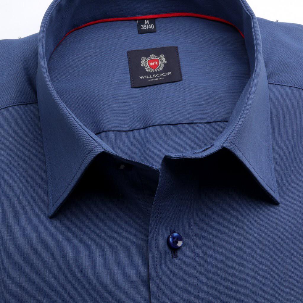 Klasyczna granatowa koszula w prążek