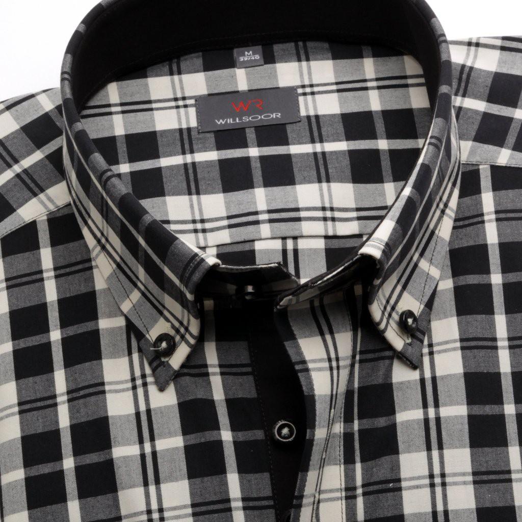 Czarna klasyczna koszula w kratkę