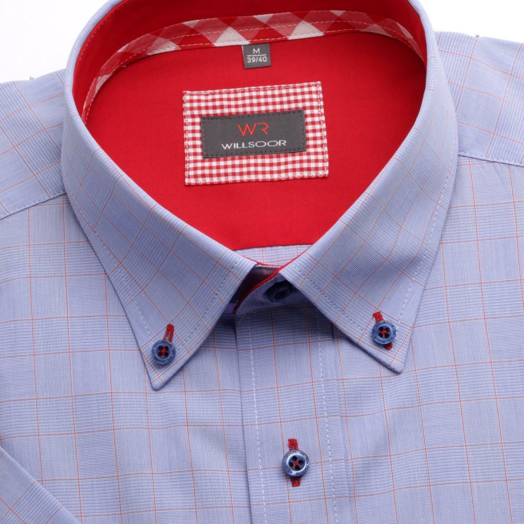 Niebieska klasyczna koszula w kratę