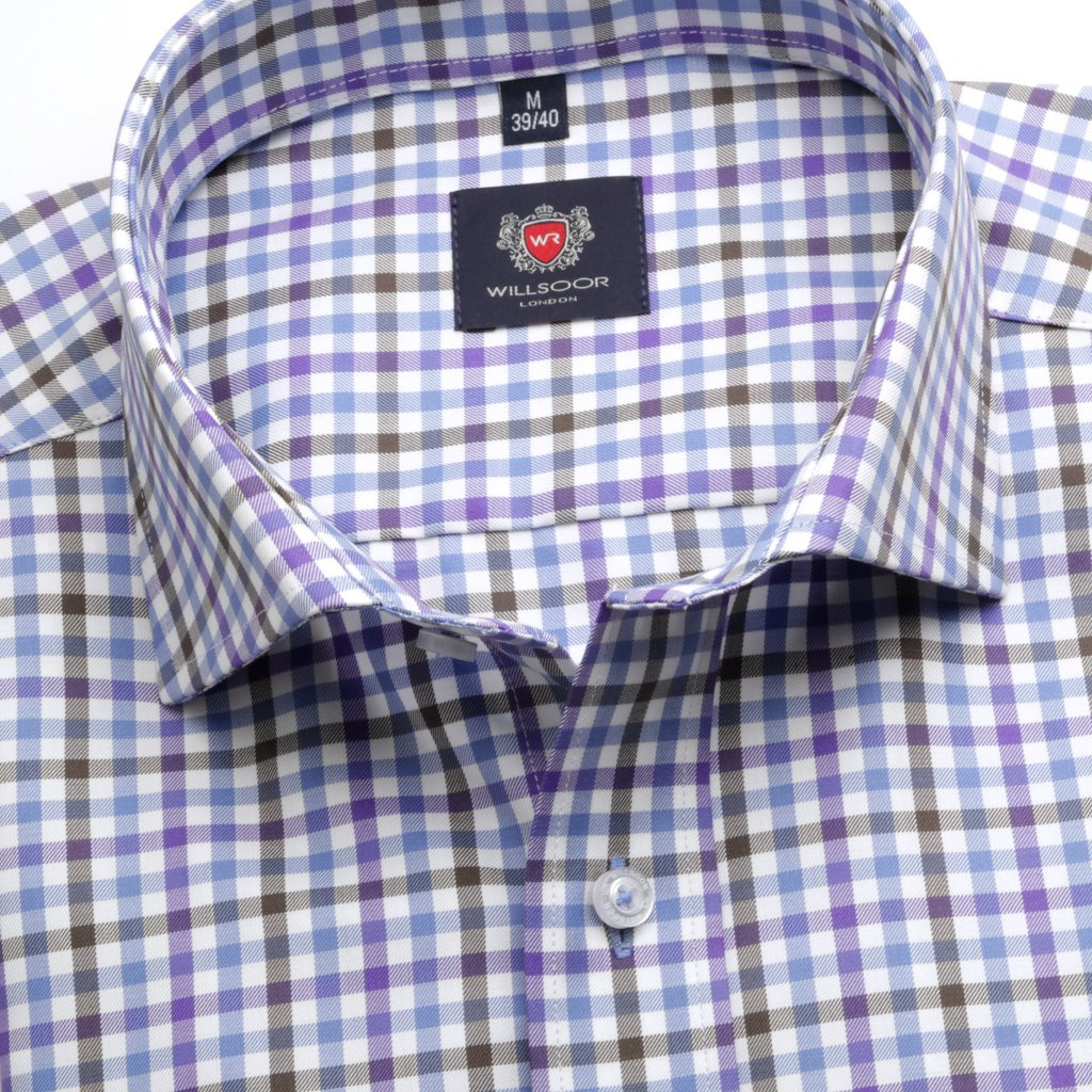 Biała klasyczna koszula w kratkę gingham
