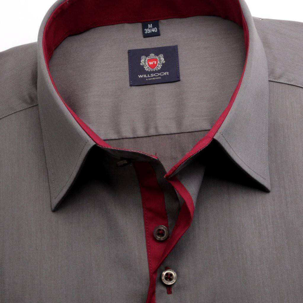 Ciemnoszara klasyczna koszula