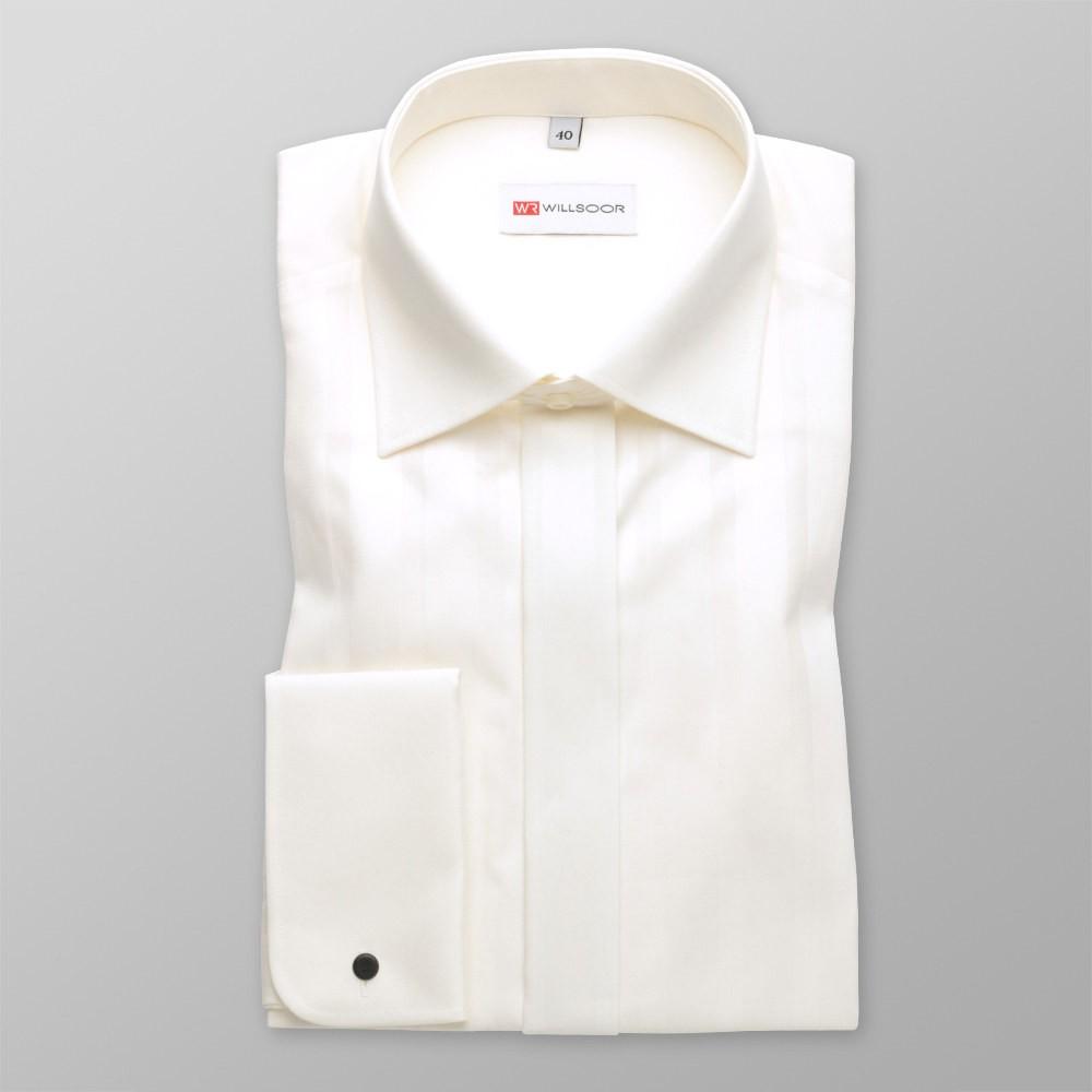 Klasyczna koszula w kolorze écru na spinki
