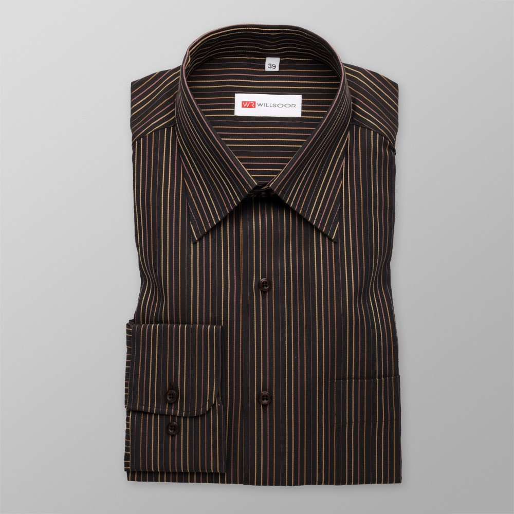 Klasyczna koszula w kolorowe prążki