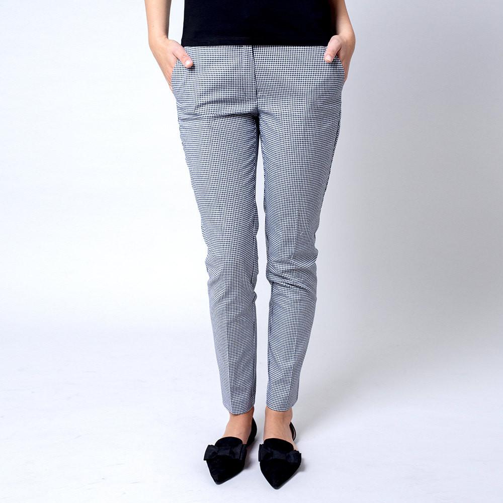 Spodnie garniturowe w drobną pepitkę