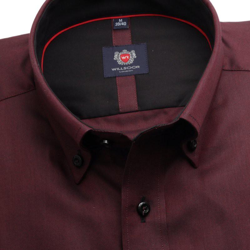 Taliowana koszula w kolorze burgund