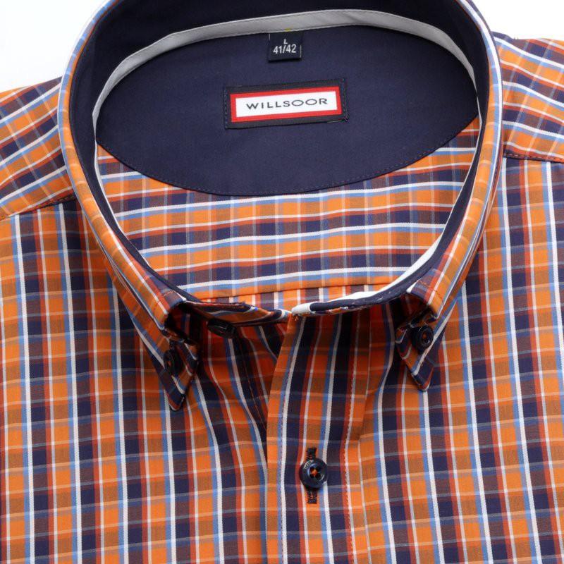 Klasyczna pomarańczowa koszula w kratkę