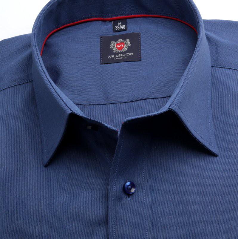 Granatowa klasyczna koszula w prążek