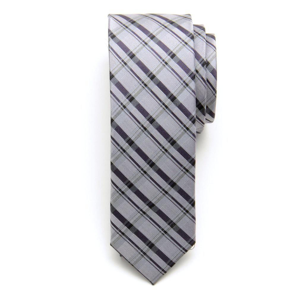 Krawat wąski (wzór 614) z jedwabiu