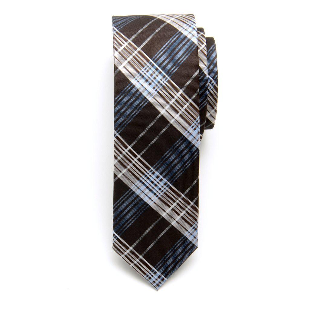Krawat wąski (wzór 615) z jedwabiu