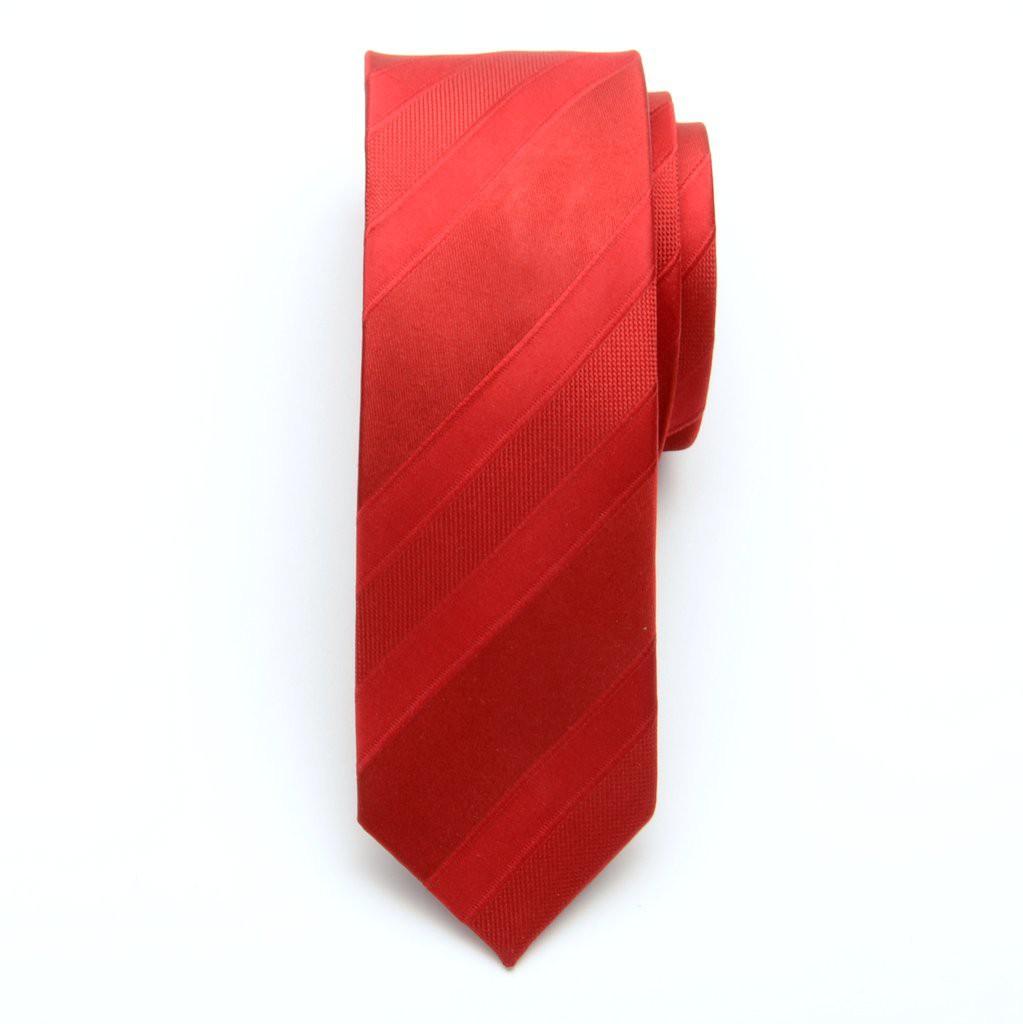 Krawat wąski (wzór 616) z jedwabiu