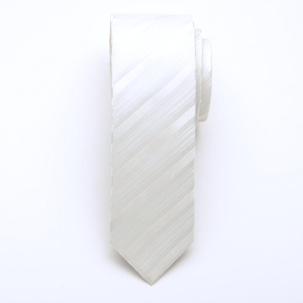 Krawat wąski (wzór 617) z jedwabiu