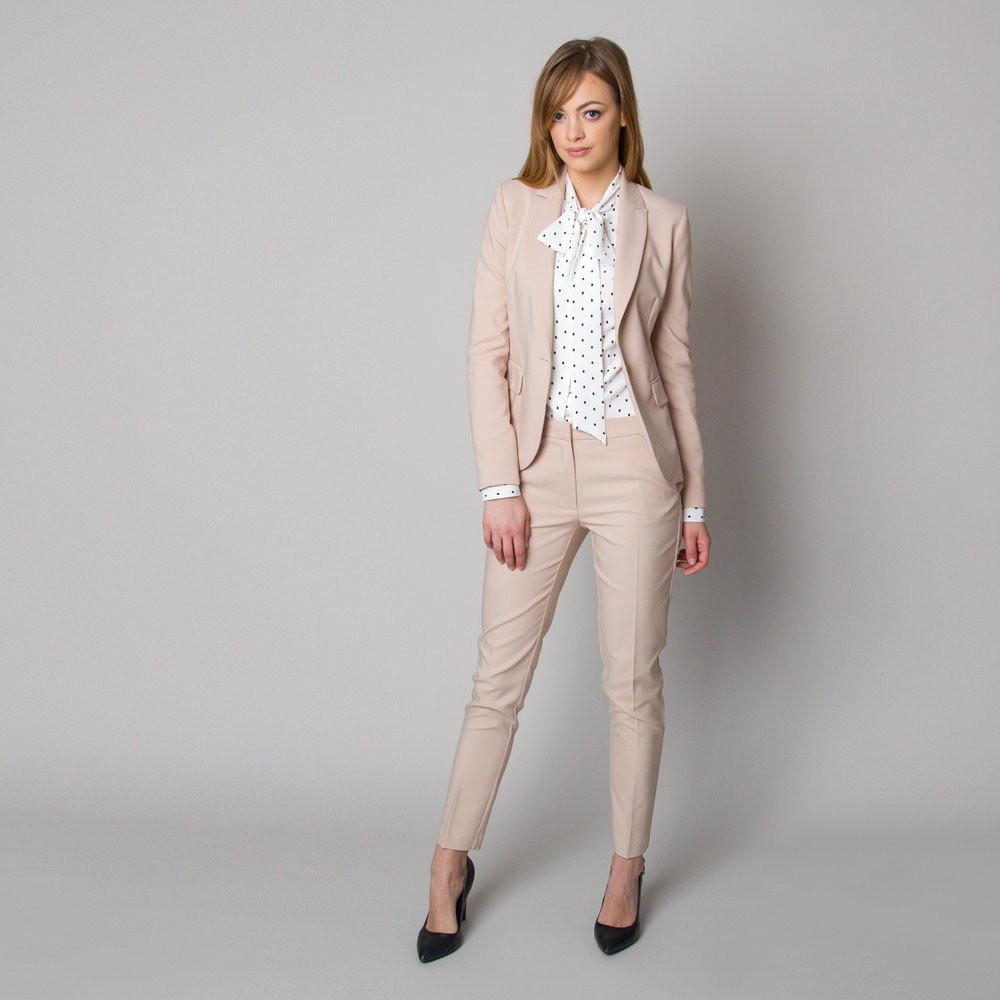 Beżowy garnitur damski
