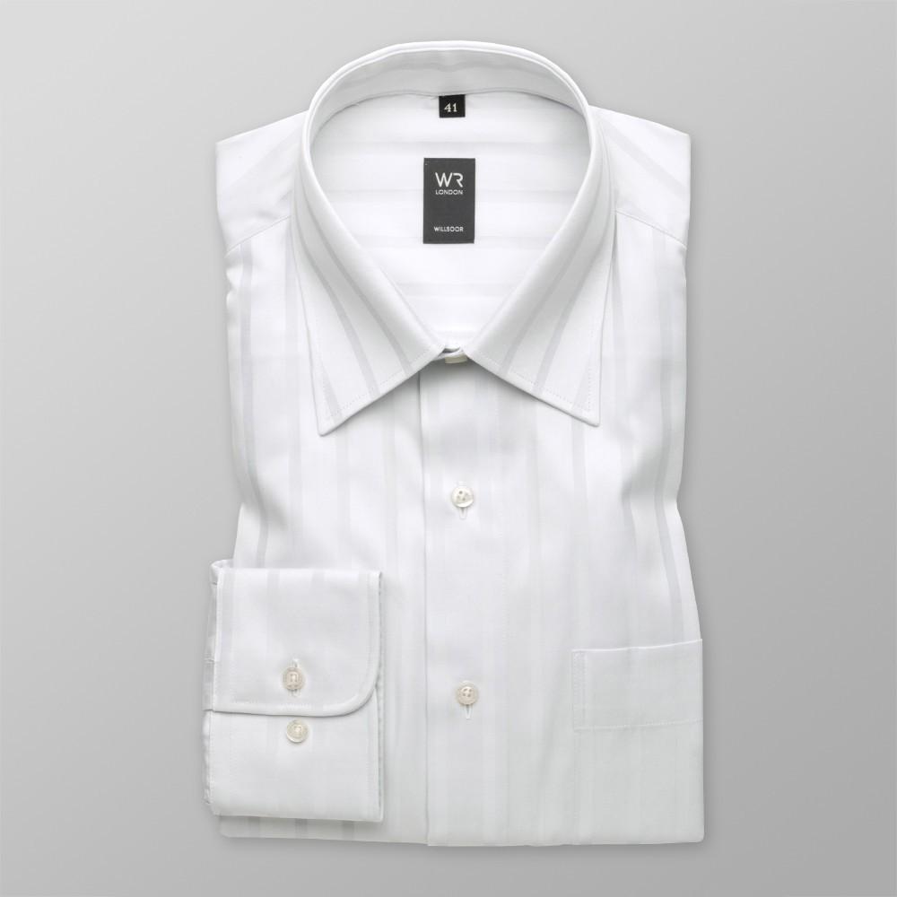 Klasyczna jasnoszara koszula w pasy