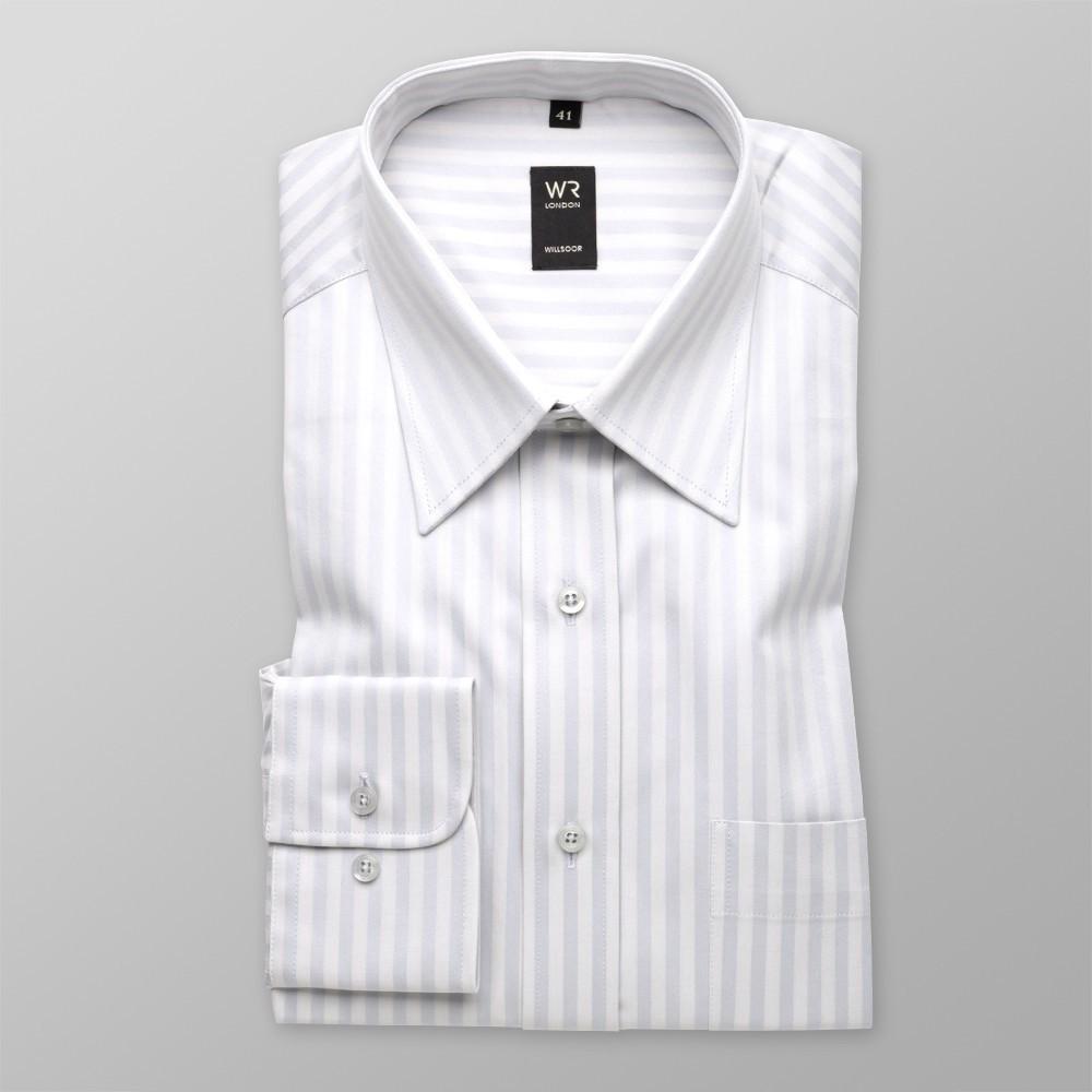 Klasyczna jasnopopielata koszula w paski
