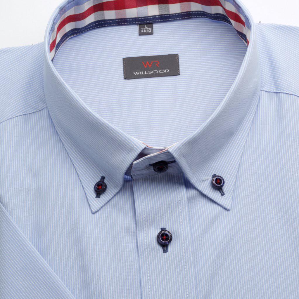 Klasyczna jasnobłękitna koszula w prążek