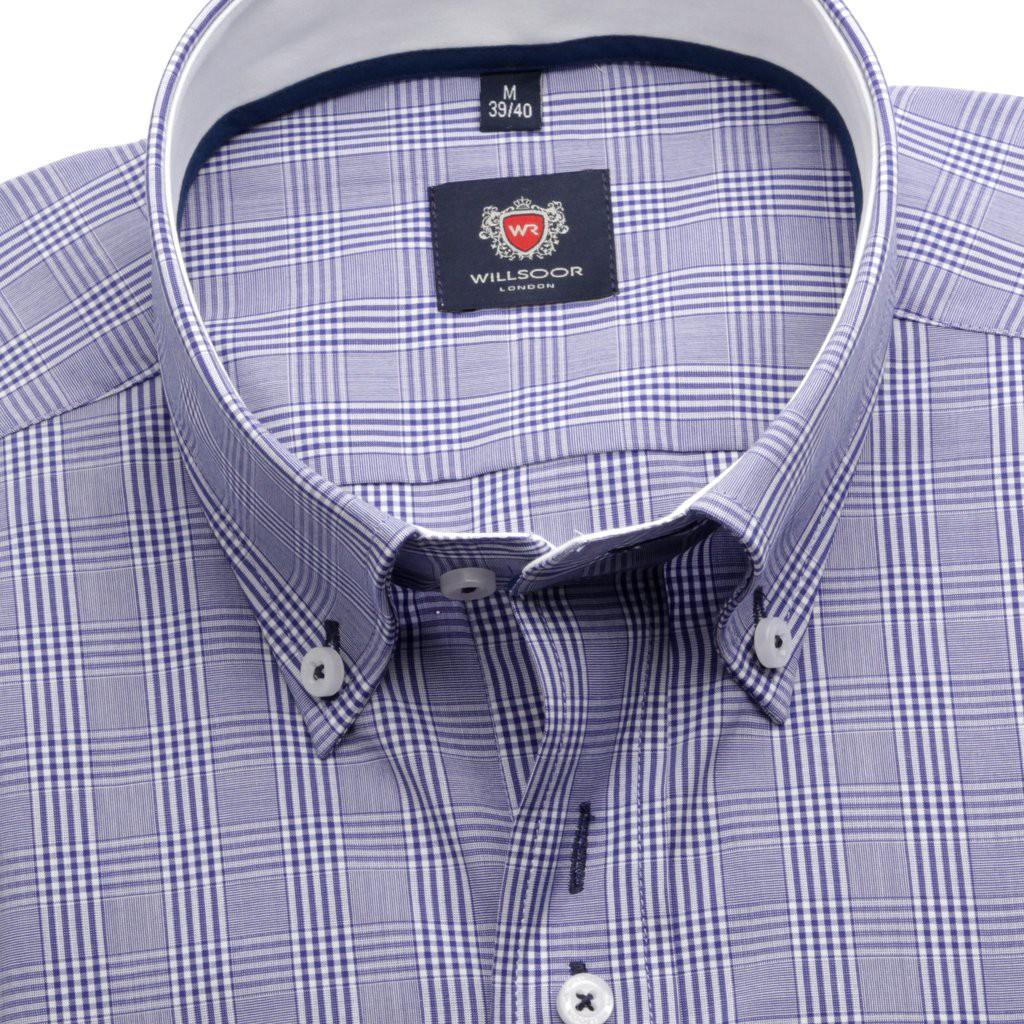 Klasyczna wrzosowa koszula w kratkę