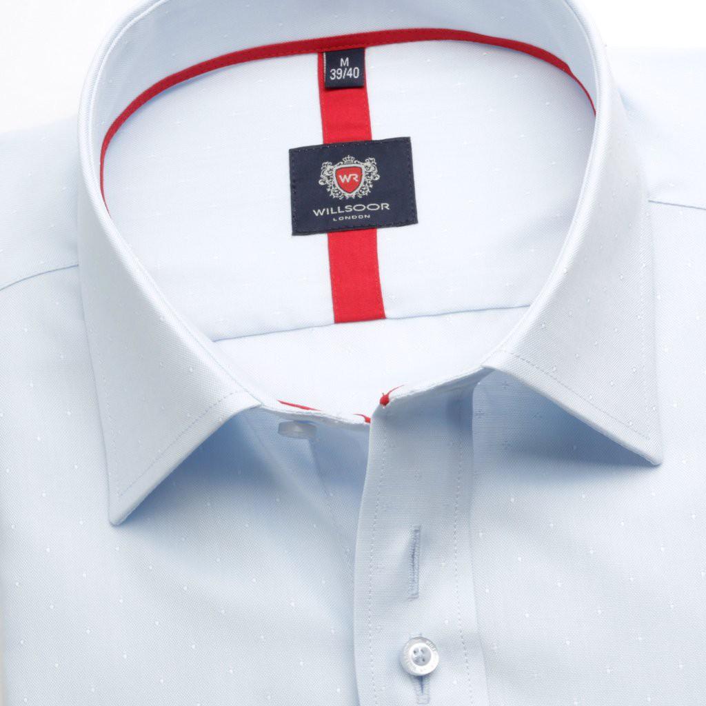 Jasnobłękitna klasyczna koszula w kropki