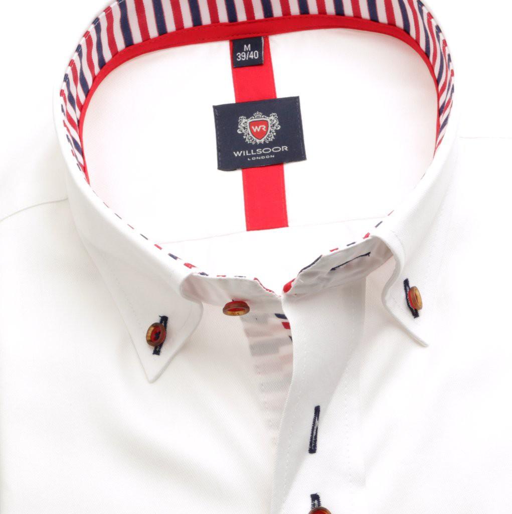 Klasyczna biała koszula z kontrastami