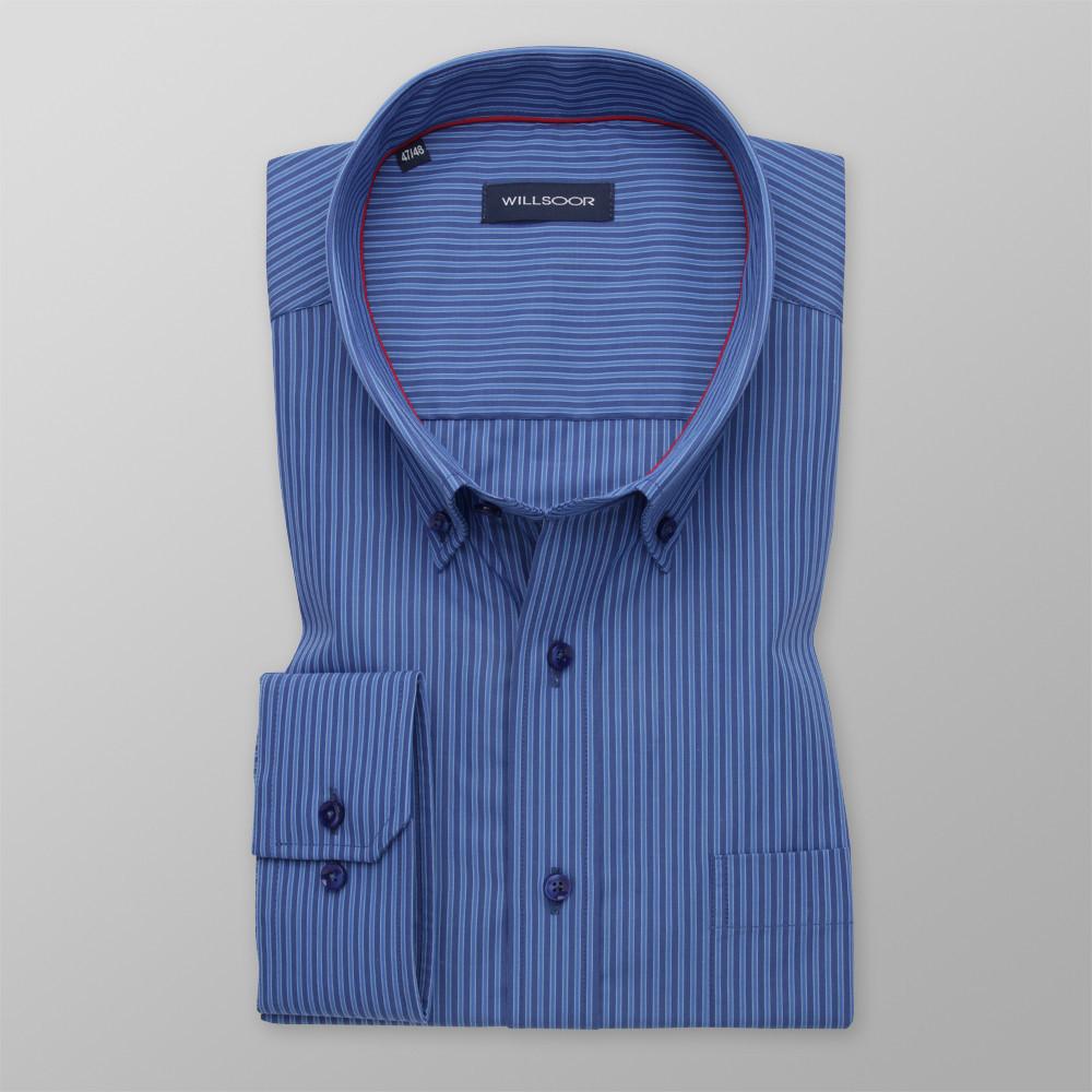 Klasyczna koszula w granatowo-niebieskie paski