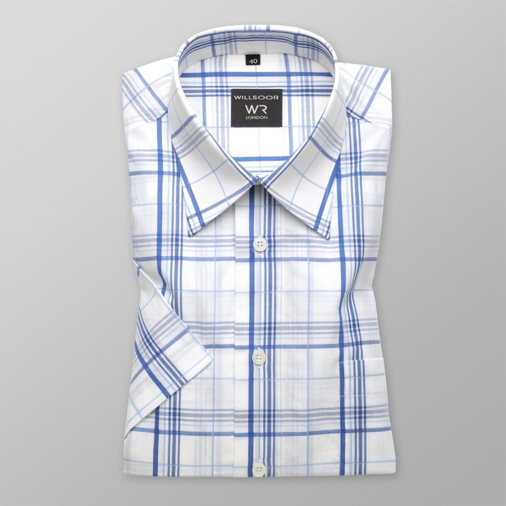 Klasyczna biała koszula w kratę