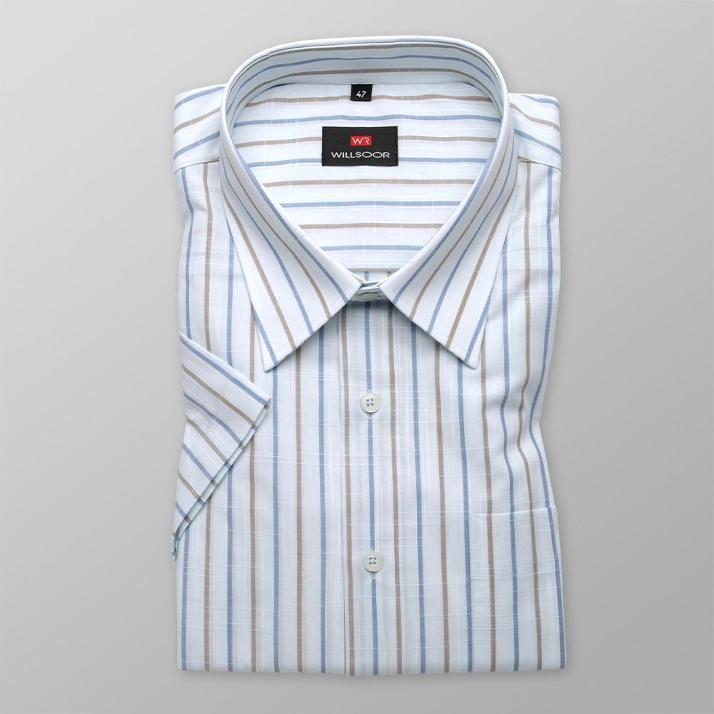 Klasyczna jasnobłękitna koszula w paski