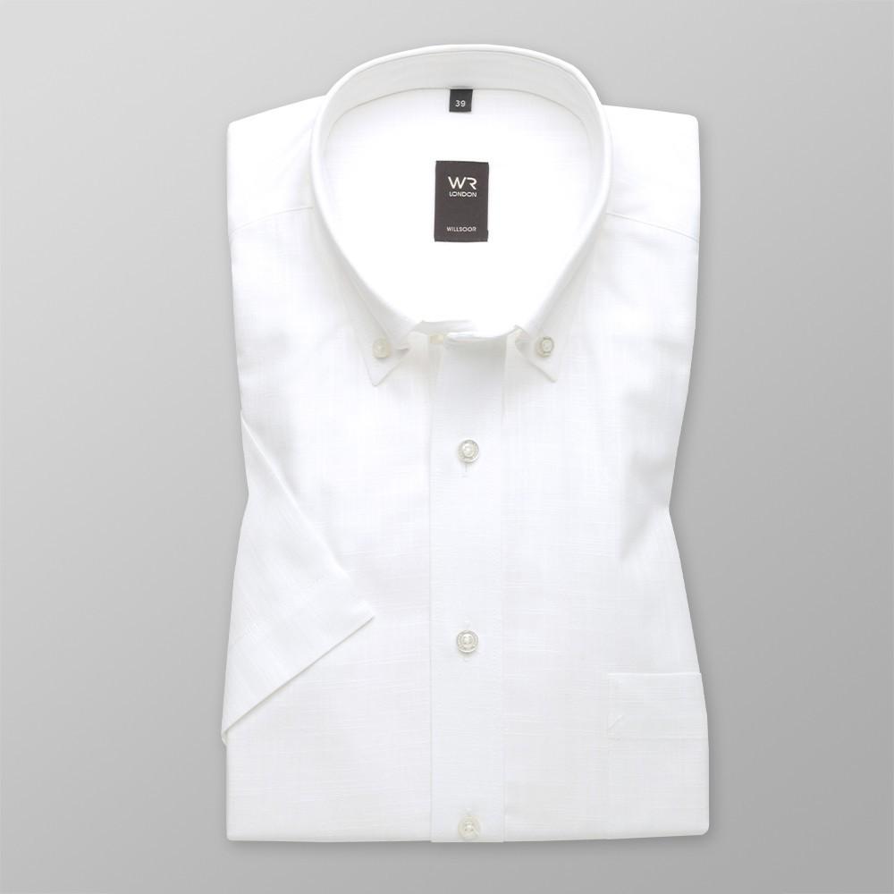 Klasyczna biała koszula z lnu