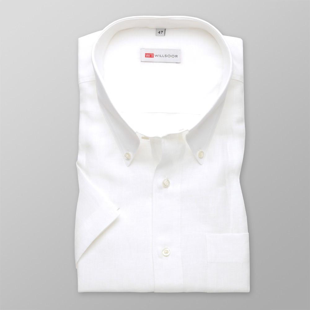 Klasyczna lniana biała koszula