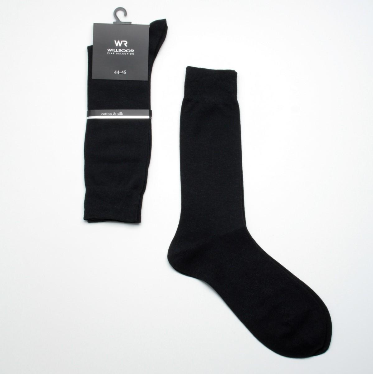 Skarpetki z jedwabiu i bawełny - czarne
