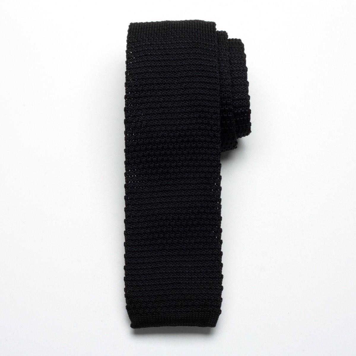 Krawat tkany Willsoor - czarny