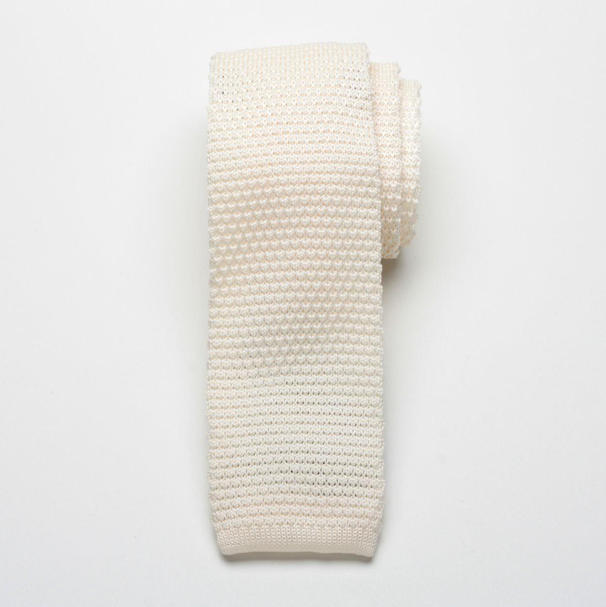 Krawat tkany Willsoor - kremowy