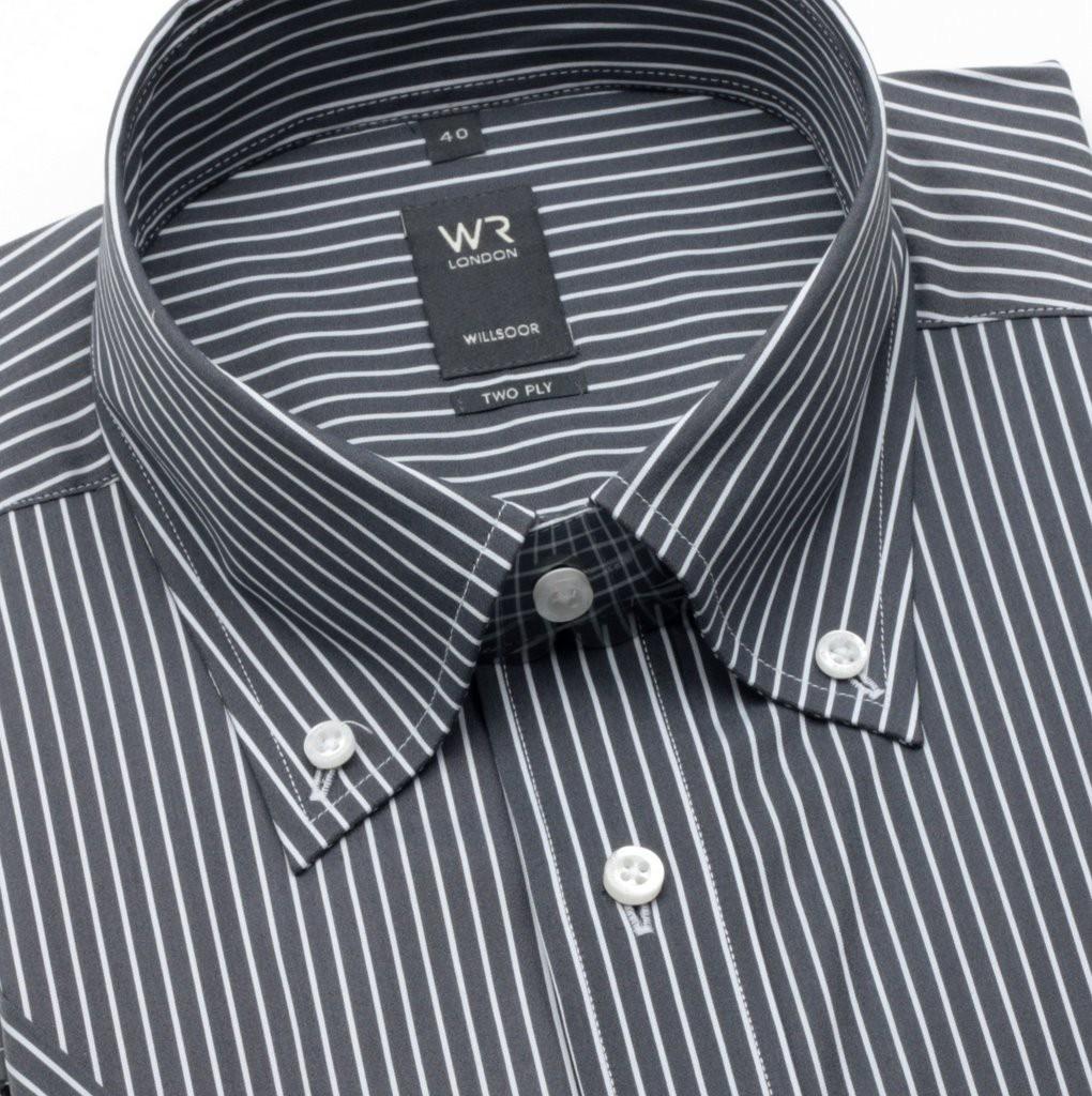Koszula WR London (wzrost 176/182) z krótkim rękawem taliowana