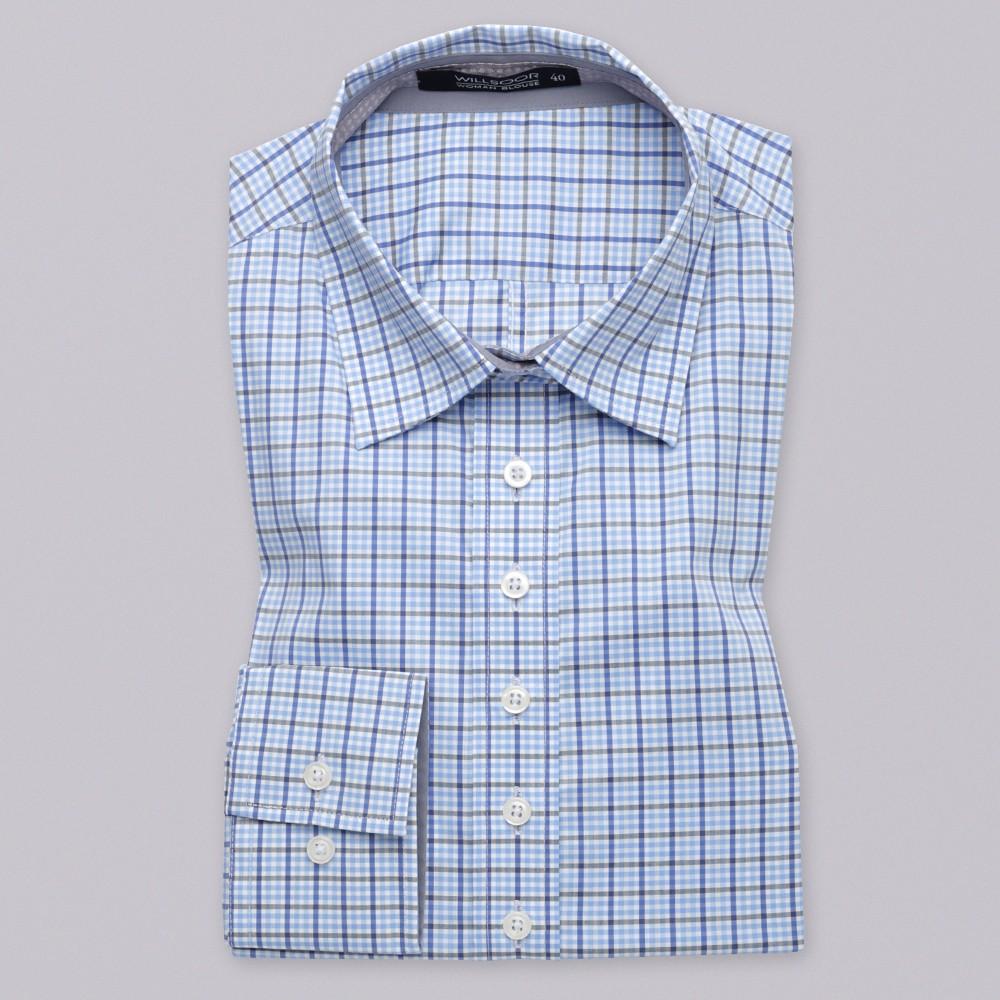 Niebieska bluzka w kratkę gingham