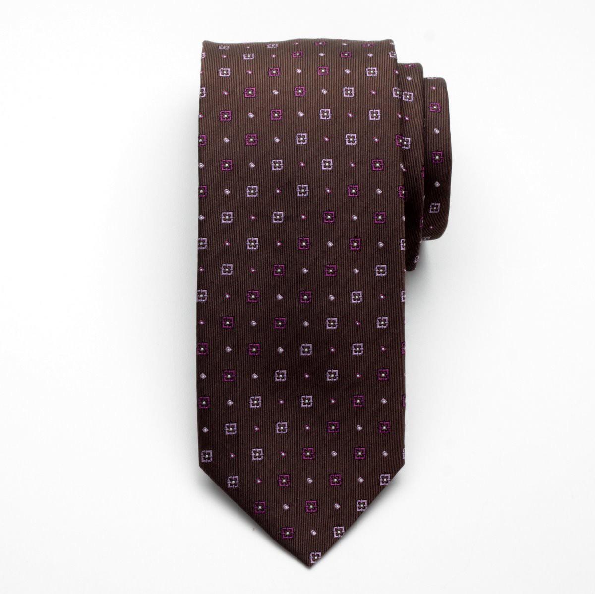 Krawat jedwabny Fine Selection (wzór 104)