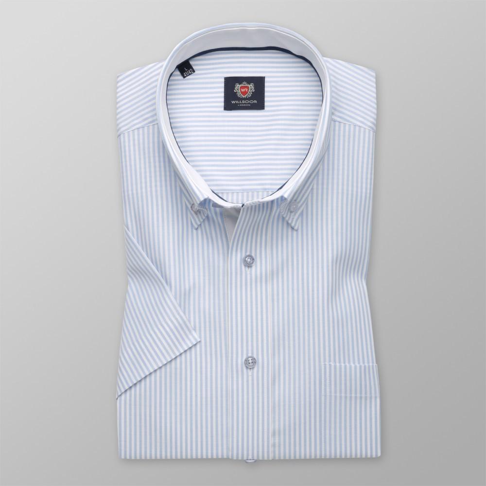 9622003b375a70 Klasyczna koszula w białe i błękitne paski - Koszule męskie - WYPRZEDAŻ