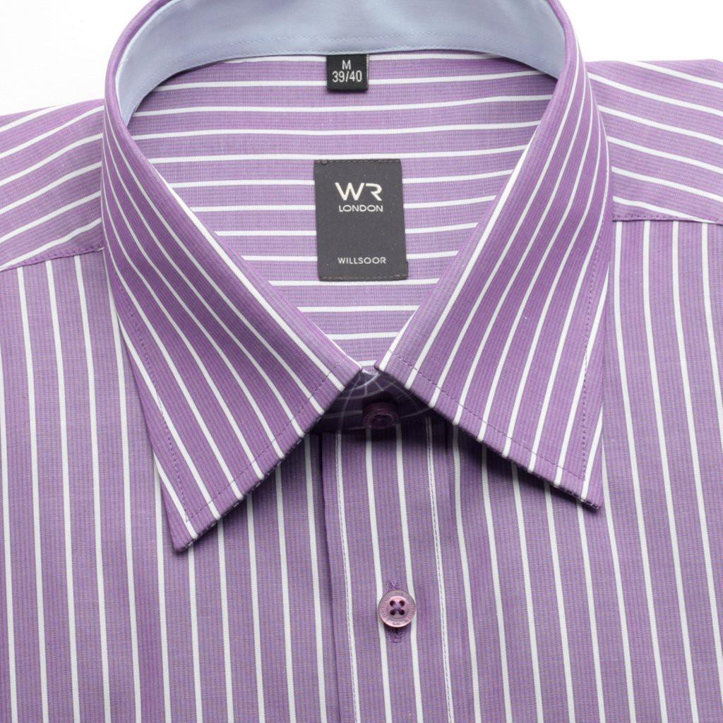 Klasyczna fioletowa koszula w paski