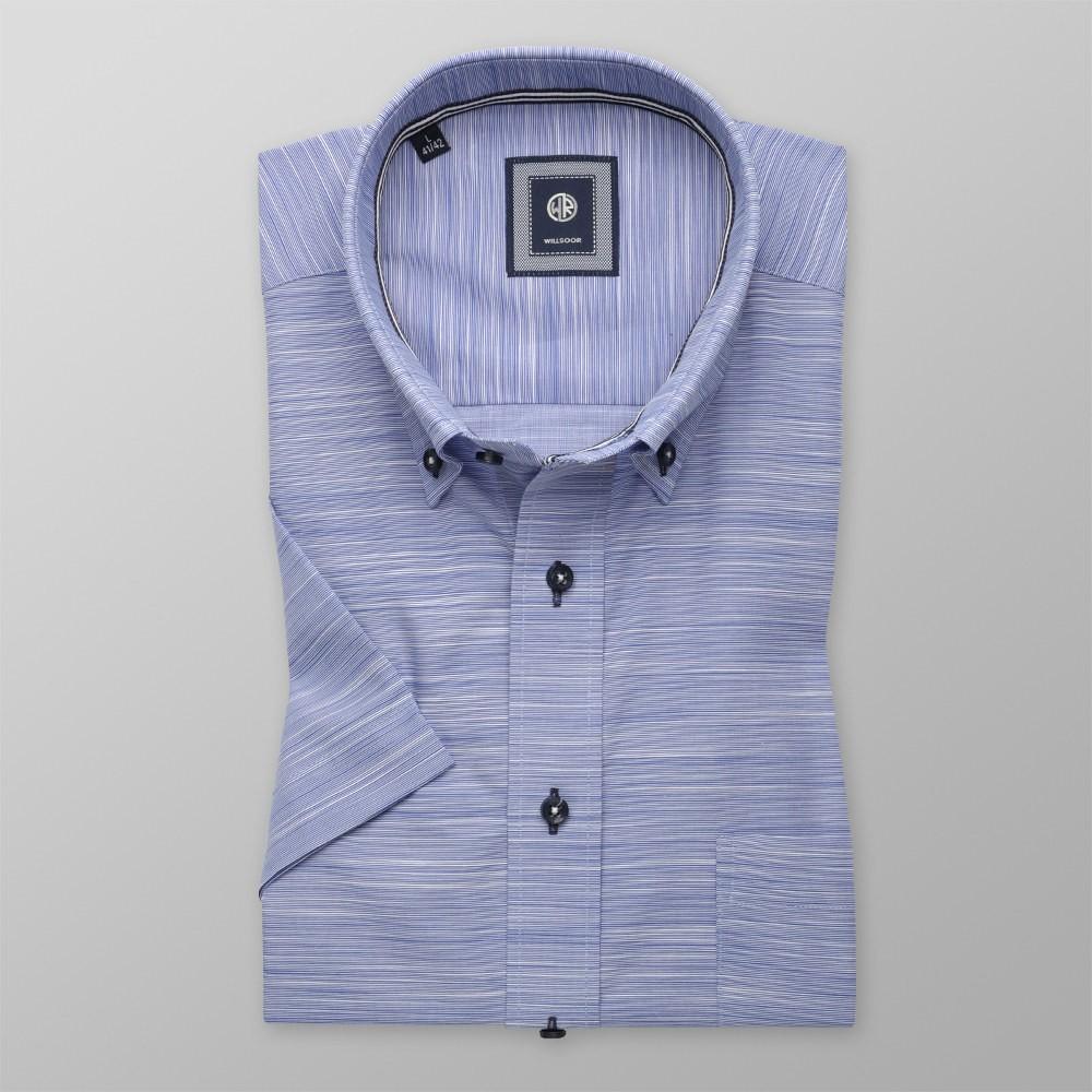 Niebieska klasyczna koszula w prążek